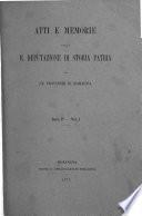 Atti e memorie - Deputazione di storia patria per le provincie di Romagna
