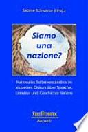Autocoscienza nazionale nell'attuale discorso su lingua, letteratura e storia italiana