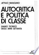 Autocritica e politica di classe