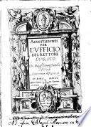 Auuertimenti per l'vfficio del rettore curato. Di monsig.re Giouan Battista di Costanzo arcivescouo di Cosenza