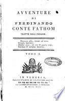 Avventure di Ferdinando conte Fathom tratte dall'inglese. Tomo 1. [-2.]
