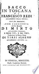 Bacco in Toscana