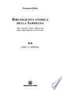 Bibliografia storica della Sardegna: Indici e addenda