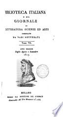 Biblioteca italiana; ossia Giornale di letteratura, scienze ed arti compilato da una società di letterati