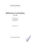 Bibliotheca leonardiana, 1493-1989: Catalogo cronologico, indici