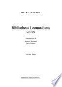 Bibliotheca leonardiana, 1493-1989