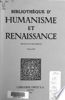 Bibliothèque d'humanisme et Renaissance