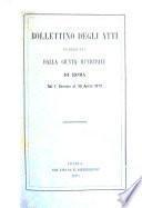 Bollettino degli atti pubblicati dalle giunte di governo e municipali di Roma