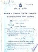 Bollettino del Ministero di agricoltura, industria e commercio. Serie B, Atti e notizie per l'agricoltura, l'industria ed il commercio