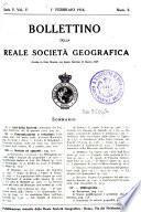 Bollettino della Reale Società geografica