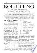 Bollettino della Società ginnastica milanese Forza e coraggio