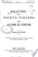 Bollettino della Societa italiana degli autori ed editori
