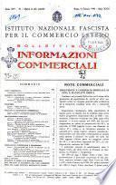 Bollettino di informazioni commerciali pubblicazione settimanale dell'Istituto nazionale per l'esportazione