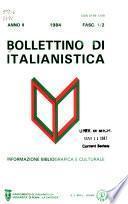 Bollettino di italianistica