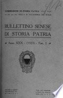Bollettino senese di storia patria