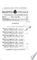 Bollettino ufficiale. 2, Atti di amministrazione