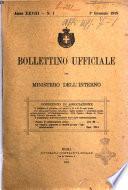 Bollettino ufficiale del Ministero dell'interno