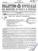 Bollettino ufficiale del Ministero di grazia e giustizia