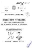 Bollettino ufficiale dell'Ispettorato generale delle ferrovie tranvie ed automobili (Ministero delle comunicazioni)