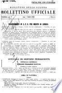 Bollettino ufficiale delle nomine, promozioni e destinazioni negli ufficiali e sottufficiali del R. esercito italiano e nel personale dell'amministrazione militare