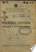 Bollettino ufficiale legislazione e disposizioni ufficiali