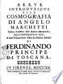 Breue introduzione alla cosmografia di Angelo Marchetti ..