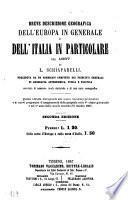 Breve descrizione geografica dell'Europa e dell'Italia in particolare nel 1867