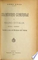 Calendario generale del regno d'Italia