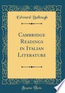 Cambridge Readings in Italian Literature