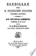 Cardillac ossia il giojelliere assassino. Dramma storico