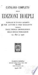 Catalogo completo delle edizioni Hoepli