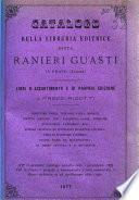 Catalogo della libreria editrice ditta Ranieri Guasti in Prato (Toscana) libri d'assortimento e di propria edizione a prezzi ridotti ..