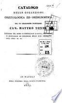 Catalogo delle collezioni orittologica ed oreognostica