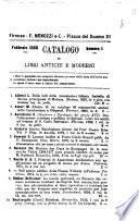 Catalogo di Libri antichi e moderni F. Menozzi e C.