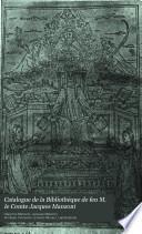 Catalogue de la bibliothèque de feu M. le comte Jacques Manzoni ...: ptie. Les éditions du siècle XV; les éditions des Aldes, Marcolini et Soncino; et la polygraphie