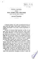 Cenni critici intorno alla teoria del Kölliker sull'origine delle specie. (Estratto dall'Annuario della Società dei Naturalisti in Modena.).