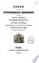 Cenno su gli avvenimenti militari, ovvero saggi storici sulle campagne dal 1799 al 1814 del conte M. Dumas