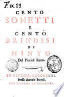 Cento sonetti e cento brindisi di Minto del Picciol Reno