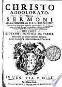 CHRISTO ADDOLORATO, Ouero SERMONI DELLA PASSIONE DI N.S. GIESV CHRISTO