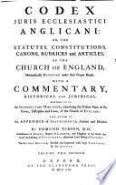 Codex juris ecclesiastici anglicani