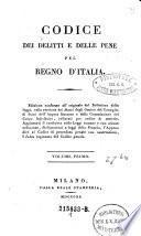 Codice dei delitti e delle pene del Regno d'Italia