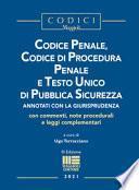Codice penale, codice di procedura penale e Testo Unico di pubblica sicurezza
