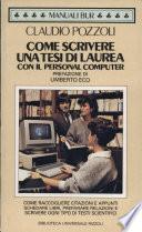 Come scrivere una tesi di laurea con il personal computer