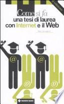 Come si fa una tesi di laurea con internet