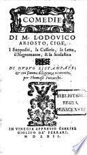 Comedie Di M. Lodovico Ariosto