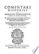 Comentari historici della città d'Orvieto