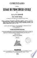 Comentario sulle leggi della procedura civile