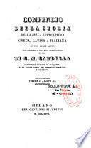 Compendio della storia della bella letteratura greca, latina e italiana... di G. M. Cardella,...