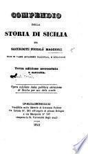 Compendio della Storia di Sicilia. Terza edizione