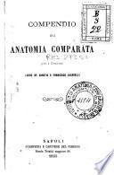 Compendio di anatomia comparata